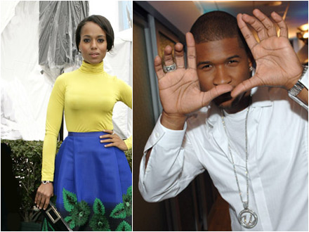 Kerry Washington and Usher