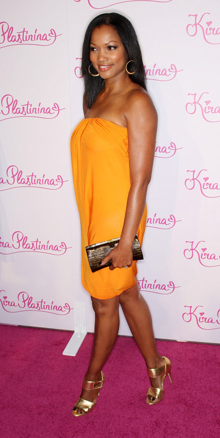 Garcelle Beauvais-Nilon in yellow dress at Kir