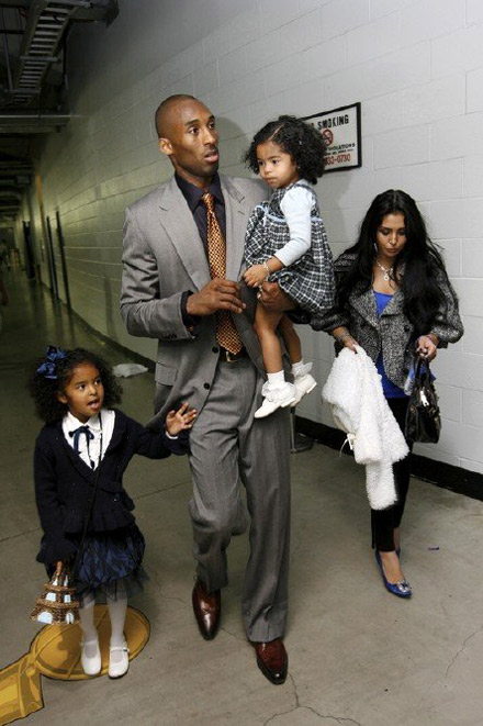 Stylish > Kobe Bryant and Family Leave the Staples Center