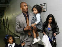 Kobe Bryant and family leave the Staple Center