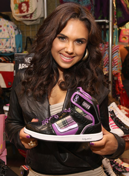 Kristinia DeBarge at Baby Phat sneaker launch