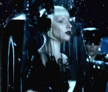 Lady Gaga in the opening scene of Alejandro
