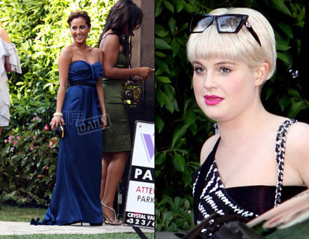 Adrienne Bailon and Kelly Osbourne at Lamar Odom/Khloe Kardashian wedding