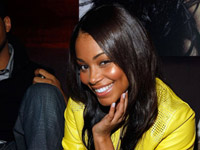 Lauren London sunshine smile in yellow