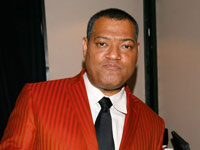 Laurence Fishburne eating AMC popcorn