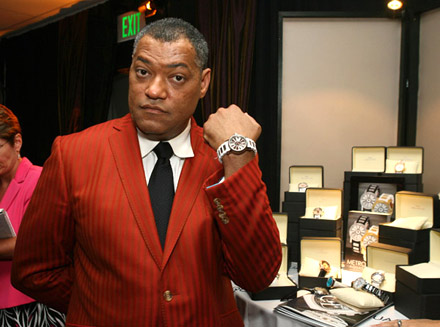 Laurence Fishburne flashes 'the right watch'