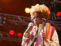 Lauryn Hill with orange hair