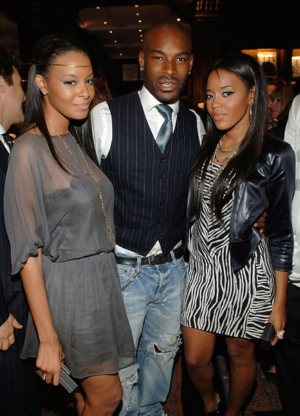 Vanessa, Angela Simmons and Tyson at Lebron James Family Foundation cocktail party