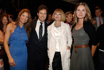 Dylan and David Lauren, Anna Wintour, and Lauren Bush at Lebron James Family Foundation cocktail party
