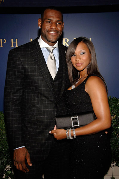 Lebron James and Savannah Brinson at Lebron James Family Foundation cocktail party