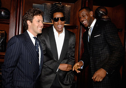 Jay-Z, Lebron James, David Lauren all smiles at Lebron James Family Foundation cocktail party