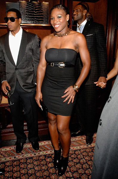 Serena Williams at Lebron James Family Foundation cocktail party