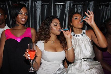 Lil Kim's Birthday Party - Angela Lola Luv, Lisa Raye, Lil Kim tip