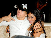 Lil Kim and Derek Hough at LIV club in Miami