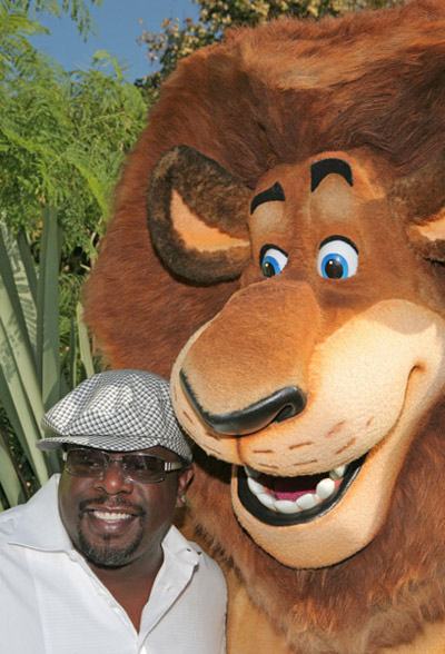 Cedric the Entertainer and Alex at Madagascar Escape 2 Africa premiere