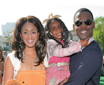 Chris Rock and family at Madagascar Escape 2 Africa premiere