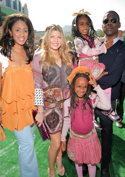 Chris Rock and family with Fergie at Madagascar Escape 2 Africa premiere