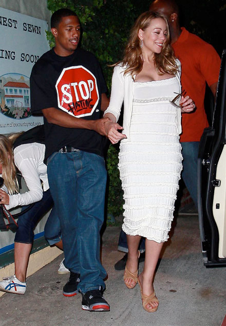 Mariah Carey and Nick Cannon leave Nobu