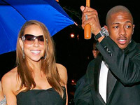 Mariah Carey and Nick Cannon get under their umbrella