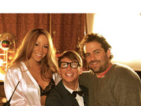 Mariah Carey, Jack McBrayer and Brett Ratner