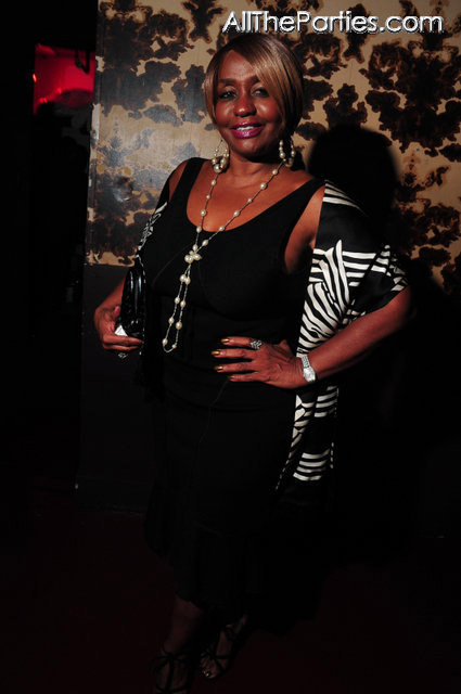 Janice Combs at Mario Winans birthday party