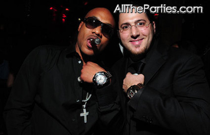 Mario Winans and friend at his birthday party