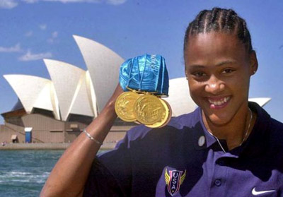 Marion Jones got medals - Sydney 2000