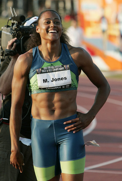 Marion Jones - ripped abs