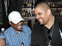 Martin Lawrence and Heavy D laugh it up at Vibe listening party