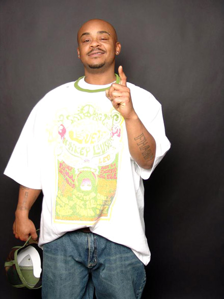MC Breed in funky style t-shirt and jeans
