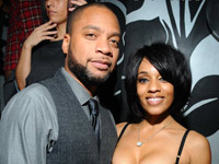 Kerry Brothers and Melyssa Ford at her celebrity birthday party