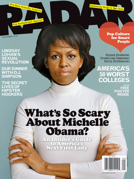 Michelle Obama on the cover of Radar magazine - September 2008