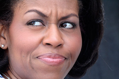 Michelle Obama throwing the side eye
