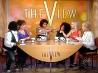 Michelle Obama fist bumps on The View