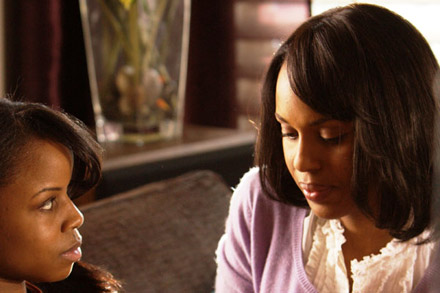 Kerry Washington and the mother of her soon to be adopted baby in Mother and Child