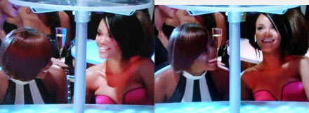 MTV Video Music Awards 2007 Rihanna and friend laughing at Britney Spears