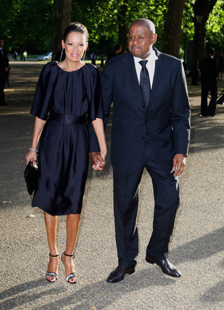 Forest Whitaker and Keisha Whitaker at Nelson Mandela Birthday Dinner