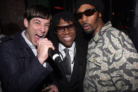 Mark Ronson, Nile Rodgers, RZA at The Renaissance release party