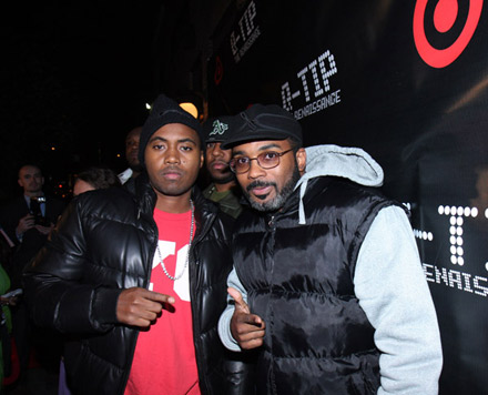 Nas and Extra P at The Renaissance release party
