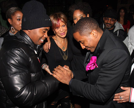 Q-Tip and Nas at The Renaissance release party