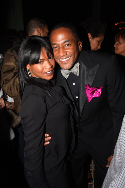 Q-Tip and Nia Long at The Renaissance release party