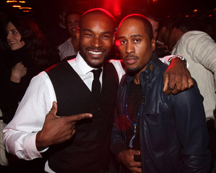 Tyson Beckford and Ali at The Renaissance release party
