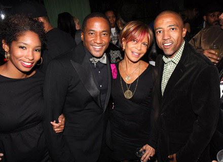 Q-Tip, Sylvia Rhone, and Kevin Liles at The Renaissance release party
