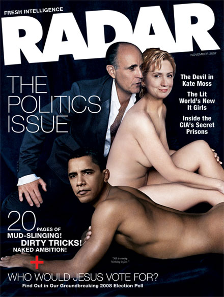 Radar Magazine - The Nude Politicians Edition