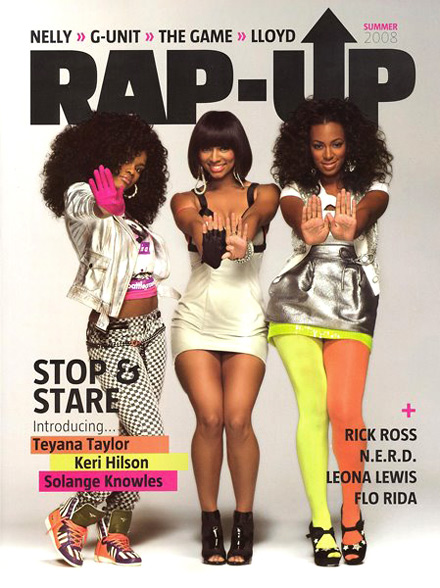 Rap-Up Cover with Keri hilson, Solange Knowles and Teyana Taylor