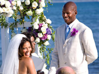 Ray Allen and Shannon Williams get Married in Martha's Vineyard - big smiles
