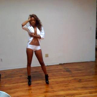 Reagan Gomez behind the scenes of King magazine shoot