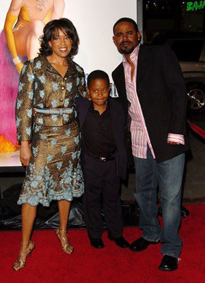 Regina King, Ian Alexander, and son