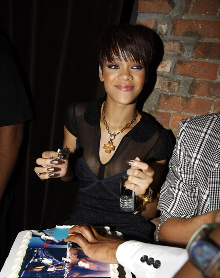 Rihanna at Good Girl Gone Bad release party