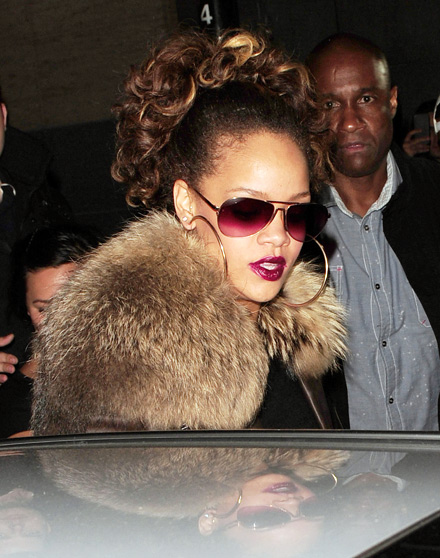 RIhanna leaving Stringfellows in Soho, London